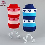 FUN OF PETS® Classic Two-tone Heart Pattern Warm Sweater Dogs Clothes for Puppy Pets Dogs (Assorted Sizes and Colours)