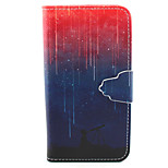 Starry Night Pattern PU Leather Full Body Cover with Stand for Sony Xperia Z5 Compact