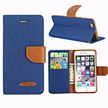 Luxury Denim PU Leather Wallet Case with Card Holders for iPhone 6/6S(Assorted colors)