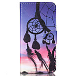 Campanula  Pattern PU Leather Phone Case For iPhone 6 Plus  /6S Plus