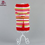 FUN OF PETS® Lovely Colourful Stripe Design Winter Sweater with Hoodie Dogs Clothes for Pets Puppy Dogs