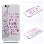 Letter Feathers Pattern Phone Shell Thin TPU Material for iPhone 6/6S