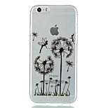 Dandelion Pattern TPU Soft Case for iPhone 6/6S
