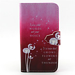 Pink Dandelion Pattern PU Leather Full Body Cover with Stand for Sony Xperia Z5 Compact