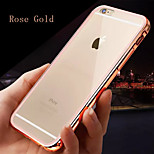 Colorful Metal Frame Plus Transparent Back Combo Material Phone Case for iphone 6/6S (Assorted Colors)