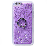 Brilliant Love Diamond Heart Ring Stand Mobile Phone Cover TPU Transpar Case for iPhone 5/5S
