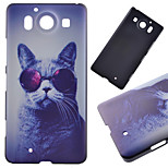 Glasses Cat Pattern PC Hard Cover Case for NOKIA 950