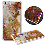Transparent Dynamic Liquid Glitter Butterfly Quicksand Back Case Cover for iPhone 5/5S(Assorted Colors)
