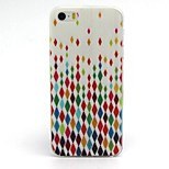 Colorful Diamond Pattern TPU Soft Case for iPhone 5G/5S