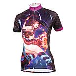 ilpaladinoSport Women Short Sleeve Cycling Jersey New Style Distinctive  DX587  Kiki 100% Polyester