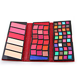 66 Colors 5 in1 40 Eyeshadow Palette  2 Creamy Eyeshadow  18 Creamy Lipgloss 3 Face Powder 3 Blusher Makeup Palette