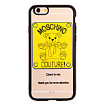 Tide Brand Bear Pattern Acrylic Hard Cover Case for iPhone 6/iPhone 6S
