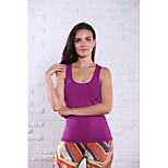 Running Tank Women's Sleeveless Breathable Nylon Yoga Queen Yoga Sports Wear Stretchy Purple / Dark Purple Summer XS / S / M / L