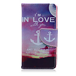 I Love Anchor Pattern PU Leather Full Body Cover with Stand for Sony Xperia Z5 Compact