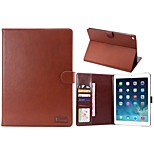 Crazy Horse Pattern PU Leather Full Body Cases Tablet Protective Case with Card Bag for iPad 6 Air 2