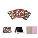 Corea del diseñador de la marca lindo flip girasol caja de libro del cuero del soporte ultra delgado cubierta elegante para el ipad 4/3/2