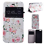 Rose Flower Pattern PU Leather Full Body Cover with Stand for iPhone 6/iPhone 6S