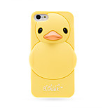 Lovely Cartoon 3D Cute Yellow Duck Soft Silicone Case Cover For iPhone 4/4S Phone Cases