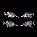 4pcs/lot New 4 Inches 14 Grams Floating Bluegill Swimbait Crankbait Artificial Bait  Fishing Lure