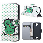 Sleeping Owl on the Branch  Wallet Leather Stand Case for Acer Liquid Z320 Z330