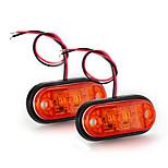 2 x Car Truck Trailer Piranha LED Side Marker Blinker Light Lamp Bulb Amber
