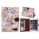 Flower Buppee Pattern PU Leather Tablet Shell Full Body Case Cover with Card Bag for iPad Air 5