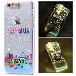Australia City Pattern LCD Sense Flash Light Back Cover Case for iPhone 6/6S