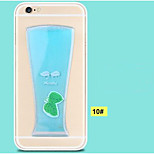 Ultra thin 3D plastic creative PC color cocktail,  beer mobile phone protection shell for iPhone 6 plus