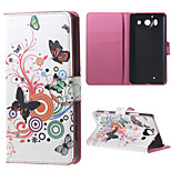Butterfly Circles  Wallet Leather Stand Case for  Microsoft Nokia Lumia 950 N950