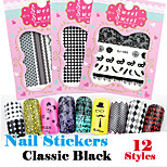 1pcs Houndstooth Watermark Nail Sticker