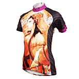 ilpaladinoSport Women Short Sleeve Cycling Jersey New Style Distinctive  DX587  Peony Women 100% Polyester