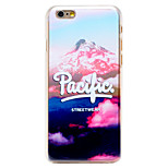 Pacific Streetwear Pattern Transparent PC Back Cover for iPhone 6