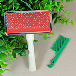 With A Small Wooden Comb With Comb With Pet Comb Needle Dog A Comb Ddoes Not Hurt The Fur Shun Hair