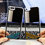 maycari®charming nagellak bling drijfzand ster transparant pc achterkant van de behuizing voor de iPhone 6 / iphone 6s (verschillende
