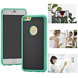 Myfon Lo  TPU+PC+Nano Suction Material  Anti-Gravity Case for iPhone 6(Green with logo hole)