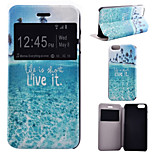 Life On the Sea Pattern PU Leather Full Body Cover with Stand for iPhone 6/iPhone 6S