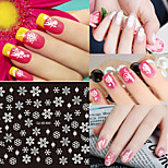 Snow Christmas Cartoon / Lovely Finger / Toe 3D Nail Stickers  12 Designs/SET