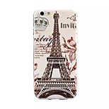 Iron Tower Painting Pattern TPU+IMD Back Case For iPhone6/6s