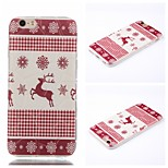 Christmas Deer Pattern Phone Shell Thin TPU Material for iPhone 6/6S