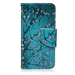 Apricot Tree Painted PU Phone Case for iphone5/5S
