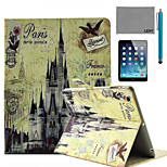 LEXY® Retro Castle Pattern PU Leather Flip Stand Case with Screen Protector and Stylus for iPad Air/iPad 5