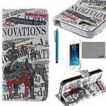 LEXY® Elephant Band Pattern PU Full Body Leather Case with Screen Protector and Stylus for iPhone 5/5S