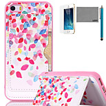 LEXY® Colorful Dots Pattern Soft TPU Back Case with Screen Protector and Stylus for iPhone 5/5S