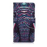 Color Elephant Pattern PU Leather Full Body Cover with Stand for Sony Xperia Z5 Compact