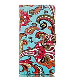 Flower Pattern Card Stand Leather Case for Huawei P8/P8Lite