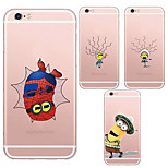 mr.minions maycari®rascal tpu posteriore di caso trasparente per iPhone 5 5s / iphone (colori assortiti)