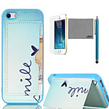 LEXY® Cute Heart Pattern Soft TPU Back Case with Screen Protector and Stylus for iPhone 5/5S