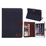 Denim PU Leather Full Body Cases Tablet Protective Case with Stand for iPad 2/3/4