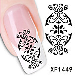 1 PCS 3D Water Transfer Printing Nail Stickers XF1449