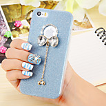 Candy Color Glitter Butterfly TPU Clear Cover for iPhone 6/6S(Assorted Colors)